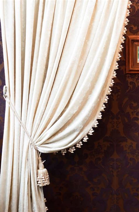 White Curtains Black Trim Inspiration White Curtains With Black Tassel Trim Curtain Menzilperde Net