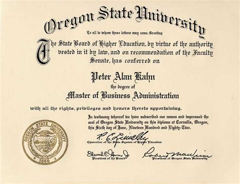 Mba Is A Strategist Degree by Oregon State Education
