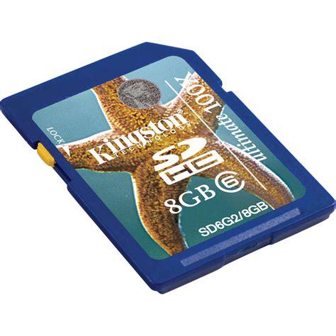 Memory Card Class 6 kingston 8gb sdhc memory card class 6 sd6g2 8gb b h photo