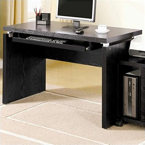 computer desk with large keyboard tray coaster peel black computer desk with keyboard tray