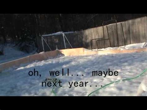 how to build an ice rink in your backyard build your own backyard ice rink doovi