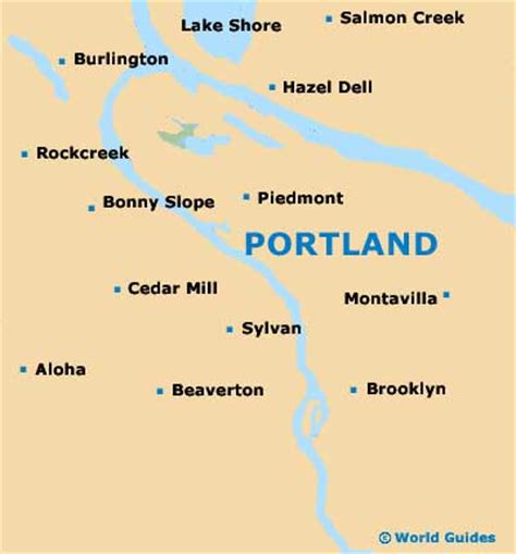 portland oregon on the usa map portland maps and orientation portland oregon or usa