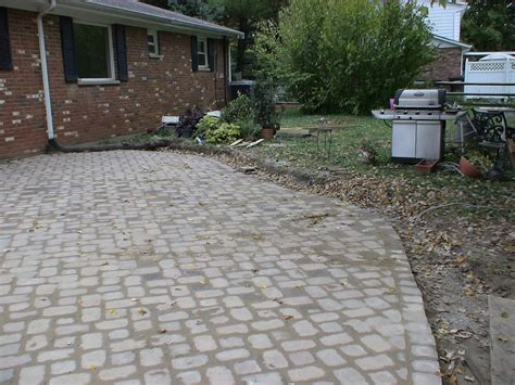 Chez V Tales From The Projects Diy Paver Patio Pond Building Paver Patio