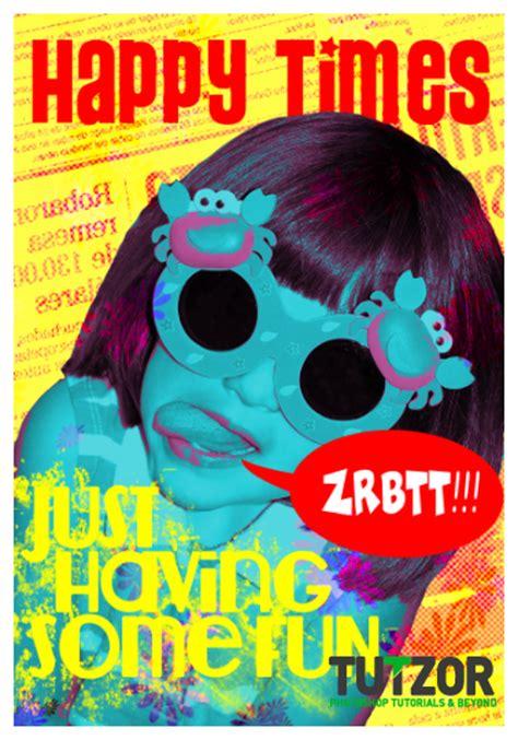 pop poster design design a colorful pop poster in photoshop tutzor