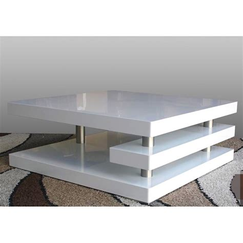 Square Coffee Table White Square Coffee Table High Gloss White