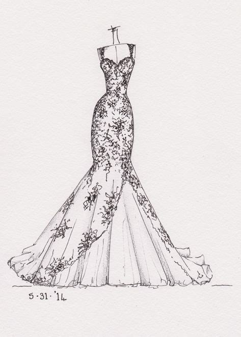 Brautkleider Zeichnen by Wedding Dress Drawing Wedding Dress Pencil And In