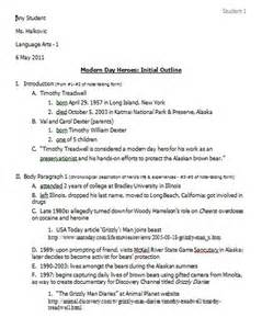English Research Paper Outline 4 Initial Outline Ms Halkovic S Website