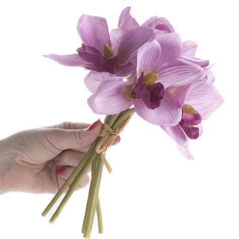 lavender artificial cymbidium orchid bundle bushes and