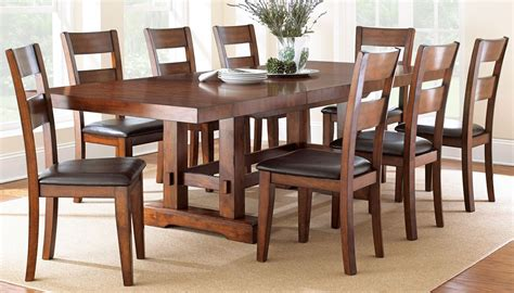 zappa medium cherry extendable rectangular dining room set