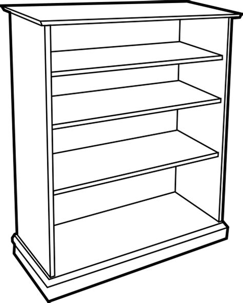 bookshelf sketch bookshelf clip at clker vector clip