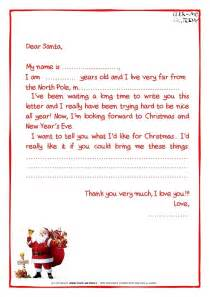 santa claus letter template letter from santa claus template sle letter template
