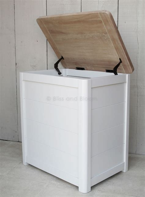 Laundry Wood Wooden Laundry Linen Bin Medium Bliss And Bloom Ltd