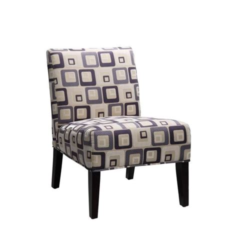 geometric accent chair trent home lifestyle armless accent chair in blue