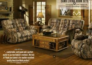 Camo Living Room Set Check Out This Living Room Set Inspired By The Outdoors Realtreecamo Decorations Are The Only