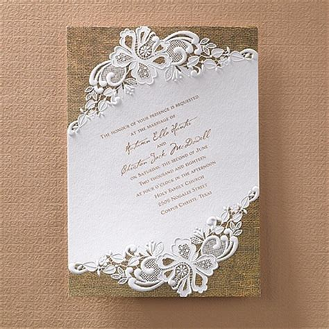 Printed Wedding Invitations Carlson by Rustic Battenburg Lace Invitation Printed Creations