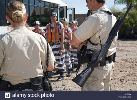 Chaign County Arrest Records Arizona A Chain Of Inmates In Maricopa County Stock Photo Royalty