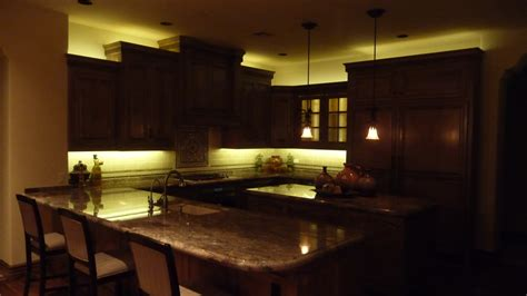 Led Lights In The Kitchen Kitchen Design For Kitchen Decoration With Led Lighting Strips Including Mahogany