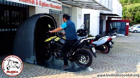 motokabin motosiklet park garaji youtube