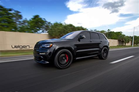 dodge jeep srt8 black jeep srt8 on velgen wheels vmb5 jeep garage jeep