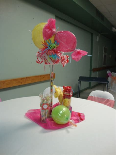 Candyland Table Decorations by Quinceanera Table Decorations Photograph Land