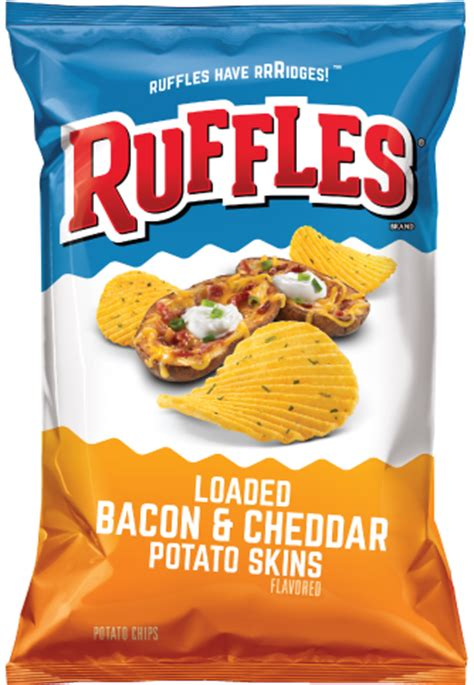 ruffles® loaded bacon & cheddar potato skins flavored