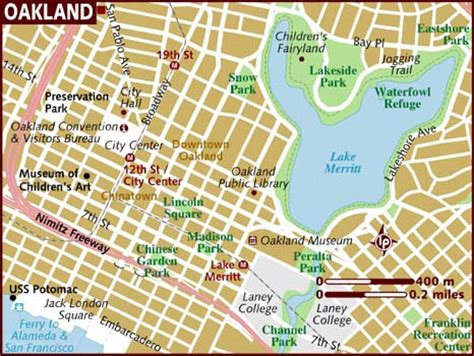 oakland map map of oakland
