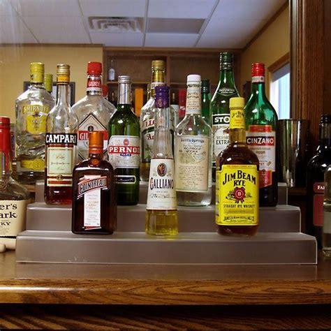 liquor bottle shelves 24 inch 3 tier liquor bottle shelf translucent