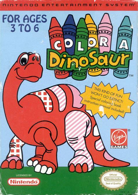color a dinosaur color a dinosaur 1993 nes box cover mobygames