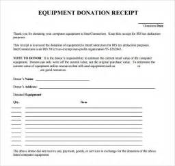receipt for donation template 9 donation receipt templates free sles exles format
