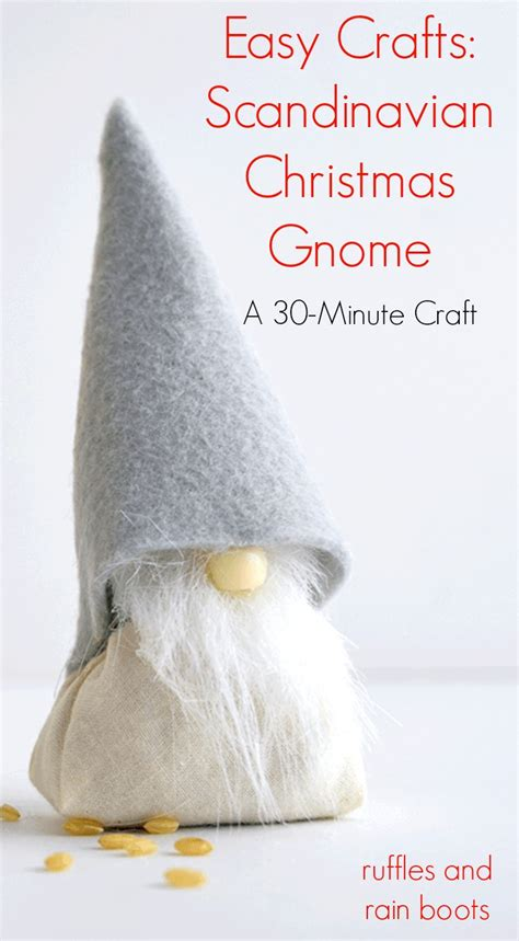 diy scandinavian christmas gnome with rice tomte or nisse