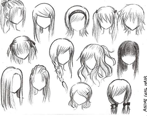 anime girl hairstyles anime girl hairstyles how to draw pinterest