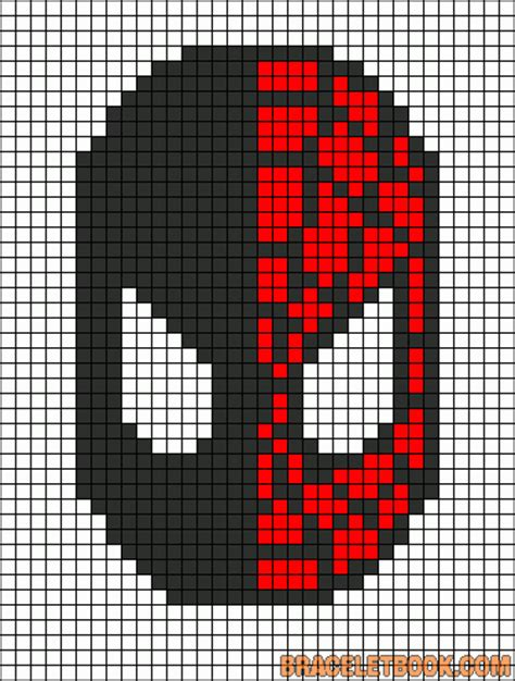 spiderman bead pattern spiderman perler bead pattern punto de cruz pinterest