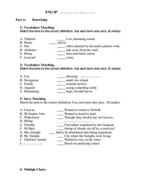 The Cay Vocabulary Worksheets by 17 Best Images About The Cay By Theodore On
