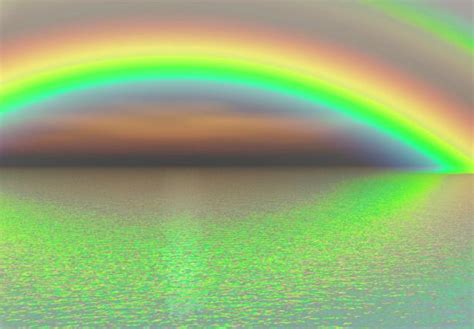 Rainbow Green circle of green