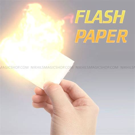 How To Make A Flash Paper - flash paper magic trick