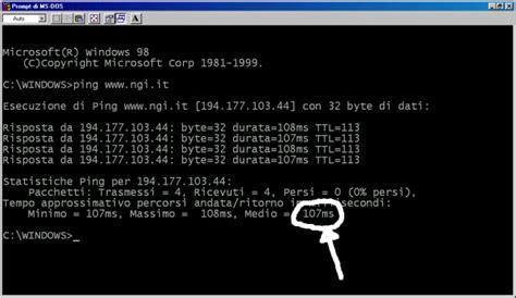 ngi line test adsl test latenza
