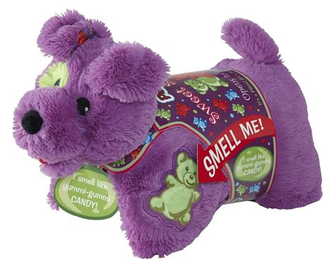 pillow pet gummi pup sweet scent pillow pet 16 quot purple