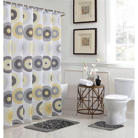 30 x 72 bath rug bath fusion raquel 18 in w x 30 in l bath rug set and 72 in w x 72 in l shower curtain set