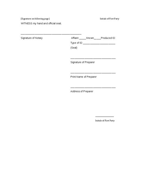 signature page template quitclaim deed template hashdoc