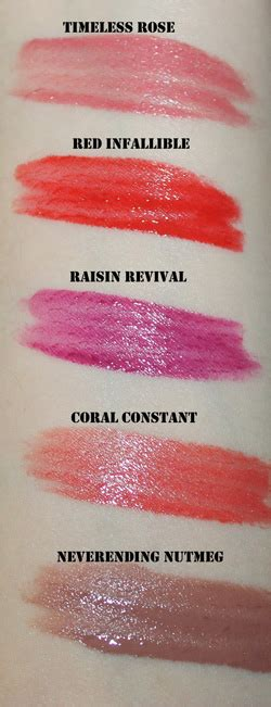 2 step swatches loreal infallible lip color mistaken identity the l or 233 al paris infallible pro last