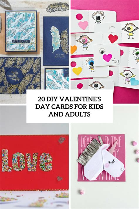 valentines day cards for children 20 diy valentine s day cards for and adults shelterness