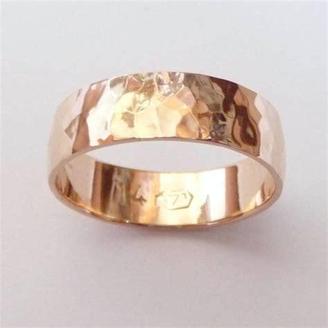 15 Best Collection of Hammered Rose Gold Mens Wedding Bands