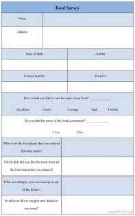 food questionnaire template food tasting survey related keywords food tasting survey