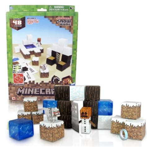 Minecraft Papercraft Sets - minecraft papercraft snow set by minecraft minecraft