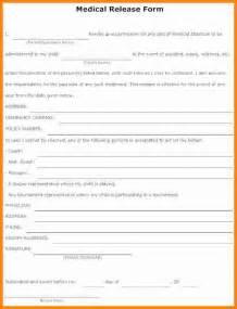 12 Sample Medical Release Form For Children Ledger Paper