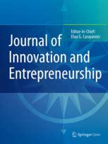 Top Mba Innovation Entrepreneurship by Journal Of Innovation And Entrepreneurship A