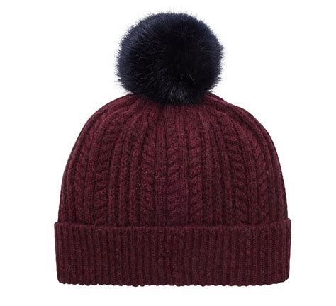 bobble knit hat joules bobble hat knitted beanie aw16
