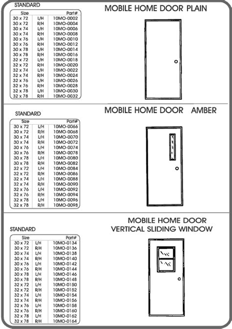 doors 1 mobile home parts vj s bargain barn