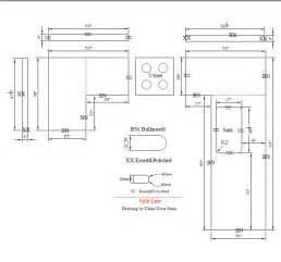 This is a countertops cad drawing the detail include backsplash size
