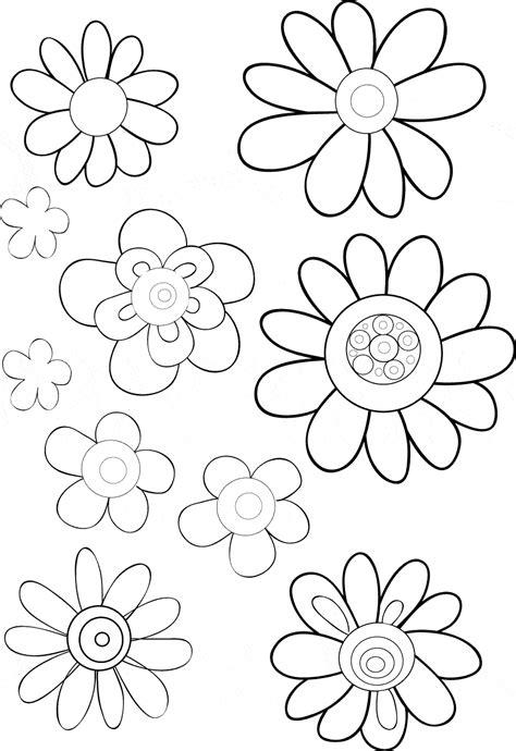 fiori da colorare e stare diversi tipi di fiori da stare e da colorare disegni